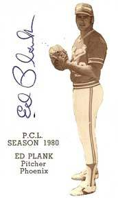 Ed Plank Autograph on a 1980 Phoenix Giants Card (#6)