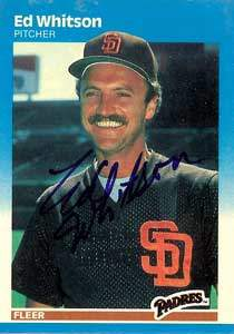 Ed Whitson Autograph on a 1987 Fleer Baseball Card (#434 | <a href='../baseball_cards/baseball_cards_oneset.php?s=1987fle00' title='1987 Fleer Baseball Card Checklist'>Checklist</a>)