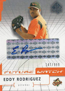Eddy Rodriguez Autograph on a 2004 Upper Deck SP (#100)