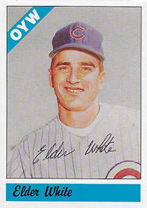 Elder White Autograph on a 1983 One Year Winners Baseball Card (#101)