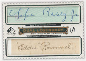 Eppa Rixey Autograph on a 2009 Upper Deck SP Legendary Cuts (#1/1)