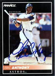 Eric Anthony Autograph on a 1992 Pinnacle (#363)
