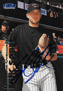 Erik Sabel Autograph on a 1999 Fleer Tradition Baseball Card (#U-77)