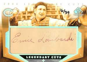 Ernie Lombardi Autograph on a 2004 Upper Deck (#EL)