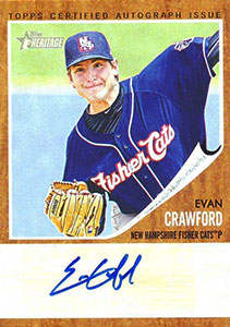 Evan Crawford Autograph on a 2011 Topps Heritage (#EC1)