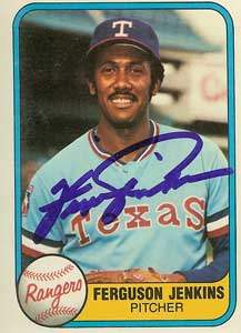 Fergie Jenkins Autograph on a 1981 Fleer (#622)