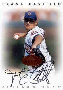Frank Castillo Autograph on a 1997 Fleer (Bronze)