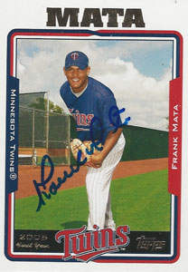 Frank Mata Autograph on a 2006 Topps (#UH281)