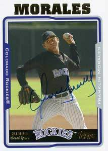 Franklin Morales Autograph on a 2005 Topps (#UH306)