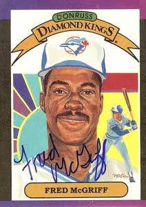 Fred McGriff Autograph on a 1988 Donruss Diamond Kings (#16)