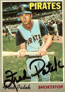 Freddie 'The Flea' Patek Autograph on a 1970 Topps Baseball Card (#94 | <a href='../baseball_cards/baseball_cards_oneset.php?s=1970top01' title='1970 Topps Baseball Card Checklist'>Checklist</a>)