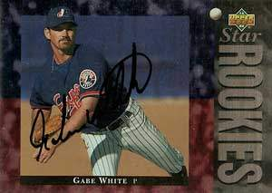 Gabe White Autograph on a 1994 Upper Deck (#30)
