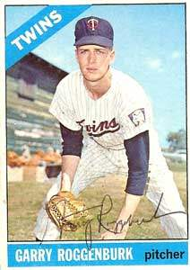 Garry Roggenburk Autograph on a 1966 Topps Baseball Card (#582 | <a href='../baseball_cards/baseball_cards_oneset.php?s=1966top01' title='1966 Topps Baseball Card Checklist'>Checklist</a>)