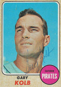 Gary Kolb Autograph on a 1968 Topps Baseball Card (#407 | <a href='../baseball_cards/baseball_cards_oneset.php?s=1968top01' title='1968 Topps Baseball Card Checklist'>Checklist</a>)