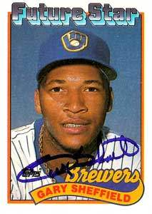 Gary Sheffield Autograph on a 1989 Topps (#343)
