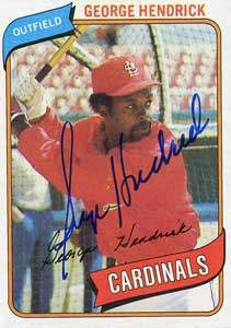 George Hendrick Autograph on a 1980 Topps (#350)