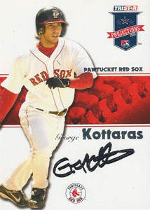 George Kottaras Autograph on a 2008 TriStar (#130)
