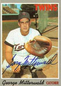 George Mitterwald Autograph on a 1970 Topps Baseball Card (#118 | <a href='../baseball_cards/baseball_cards_oneset.php?s=1970top01' title='1970 Topps Baseball Card Checklist'>Checklist</a>)