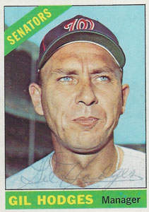 Gil Hodges Autograph on a 1966 Topps Baseball Card (#386 | <a href='../baseball_cards/baseball_cards_oneset.php?s=1966top01' title='1966 Topps Baseball Card Checklist'>Checklist</a>)