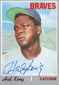 Hal King Autograph on a 1970 Topps Baseball Card (#327 | <a href='../baseball_cards/baseball_cards_oneset.php?s=1970top01' title='1970 Topps Baseball Card Checklist'>Checklist</a>)