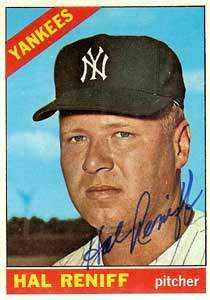 Hal Reniff Autograph on a 1966 Topps Baseball Card (#68 | <a href='../baseball_cards/baseball_cards_oneset.php?s=1966top01' title='1966 Topps Baseball Card Checklist'>Checklist</a>)