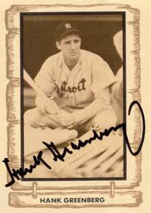Hank Greenberg Autograph on a 1980 Cramer Sports (#30)