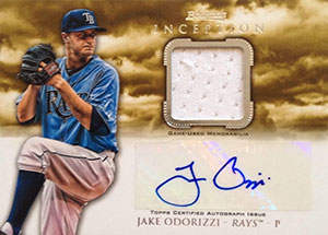 Jake Odorizzi Autograph on a 2013 Bowman Inception