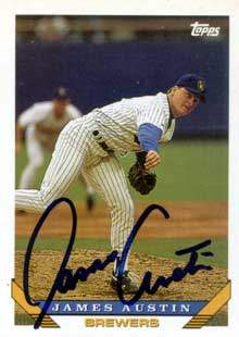 James Austin Autograph on a 1993 Topps (#449)