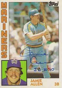 Jamie Allen Autograph on a 1984 Topps (#744)