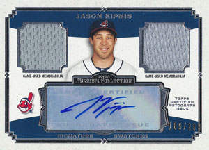 Jason 'Dirtbag' Kipnis Autograph on a 2013 Topps Museum Collection (#SSADR-JK)