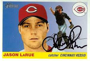 Jason LaRue Autograph on a 2004 Topps (#261)