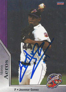 Jeanmar Gomez Autograph on a 2009 Choice Baseball Card (#07)