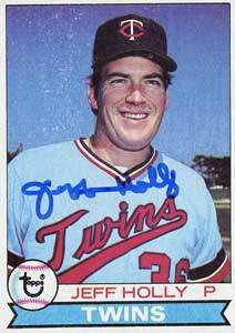 Jeff Holly Autograph on a 1979 Topps (#371)