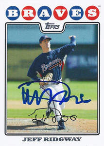 Jeff Ridgway Autograph on a 2008 Topps Update Baseball Card (#UH223 | <a href='../baseball_cards/baseball_cards_oneset.php?s=2008top01' title='2008 Topps Update Baseball Card Checklist'>Checklist</a>)