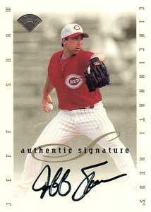 Jeff Shaw Autograph on a 1996 Leaf Signature Series (Silver)