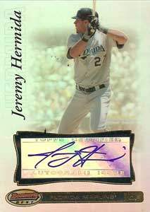 Jeremy Hermida Autograph on a 2007 Bowman's Best (#40)