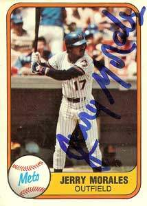 Jerry Morales Autograph on a 1981 Fleer (#338)