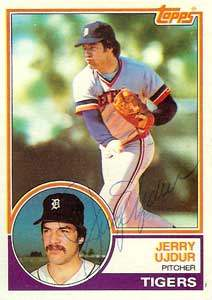 Jerry Ujdur Autograph on a 1983 Topps Baseball Card (#174 | <a href='../baseball_cards/baseball_cards_oneset.php?s=1983top03' title='1983 Topps Baseball Card Checklist'>Checklist</a>)