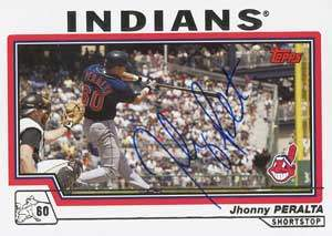 Jhonny Peralta Autograph on a 2004 Topps (#504)