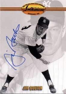 Jim 'Bulldog' Bouton Autograph on a 1993 Ted Williams Baseball Card (#60)