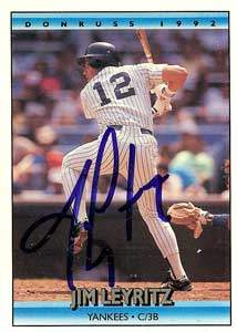 Jim Leyritz Autograph on a 1972 Donruss (#649)