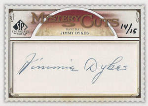 Jimmie Dykes Autograph on a 2009 Legendary Cuts (#14/15)