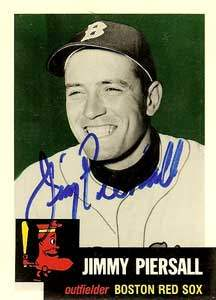 Jimmy Piersall Autograph on a 1991 Topps Archives Baseball Card (#286 | <a href='../baseball_cards/baseball_cards_oneset.php?s=1991top05' title='1991 Topps Archives Baseball Card Checklist'>Checklist</a>)