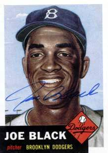 Joe Black Autograph on a 1991 Topps Archives Baseball Card (#81 | <a href='../baseball_cards/baseball_cards_oneset.php?s=1991top05' title='1991 Topps Archives Baseball Card Checklist'>Checklist</a>)