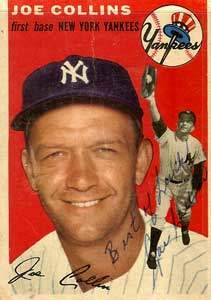Joe Collins Autograph on a 1954 Topps (#83)