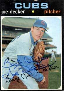 Joe Decker Autograph on a 1971 Topps (#98)