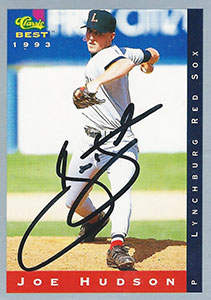 Joe Hudson Autograph on a 1993 Classic Best (#102)