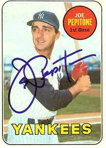 Joe Pepitone Autograph on a 1969 Topps Baseball Card (#589 | <a href='../baseball_cards/baseball_cards_oneset.php?s=1969top01' title='1969 Topps Baseball Card Checklist'>Checklist</a>)