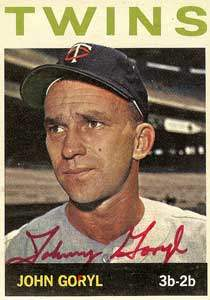 John Goryl Autograph on a 1964 Topps Baseball Card (#194 | <a href='../baseball_cards/baseball_cards_oneset.php?s=1964top01' title='1964 Topps Baseball Card Checklist'>Checklist</a>)
