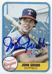 John Grub Autograph on a 1981 Fleer (#631)
